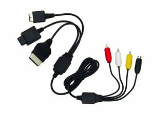 Multi cable AV INTEC pour PS1-PS2-N64-GAMECUBE-XBOX