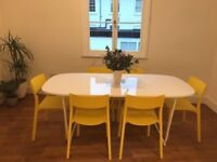 Ikea Dining Table With Frame. Both White