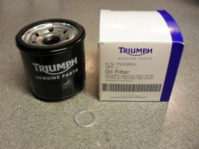 BRAND NEW GENUINE TRIUMPH OIL FILTER AND SUMP WASHER   CHEAPEST PRICE