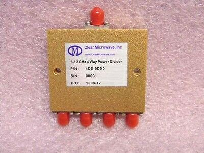 New Clear Microwave 4ds-9d00 Sma 4-way Multi-octave Band Power Divider 6-12ghz