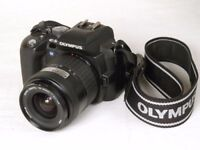 Olympus e-500 DSLR camera and all the gear