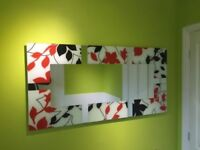 Designer Black and Red Mirror 4ft X 2ft By Gallery Direct