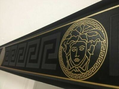 AS Creation Versace Greek Key Medusa Black/Gold Border Wallpaper (93522-4)