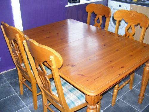 Extending kitchen table and chairs ebay - Ebay kitchen table ...