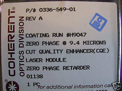 Co2 Laser Mirror Zero Phase 9.4 Microns Cqe