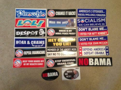 Political bumper stickers ebay