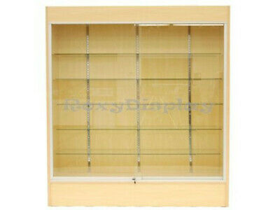 Wall Maple Display Show Case Retail Store Fixture Wlights Knocked Down Sc-wc6m