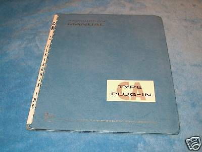 Tektronix Type Ca Plugin Instruction Manual - Oscilloscope Module Handbook