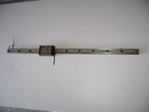ROUNTER CNC LINEAR ACTUATOR slide rail 33 in long NSK-LGY30 bearing block