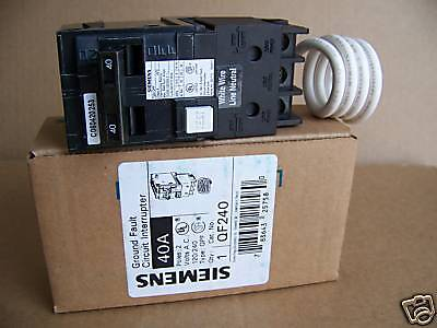 Siemens Ite Qf240 Gfi Circuit Breaker 2pole 40amp 240v New Murray Ground Fault