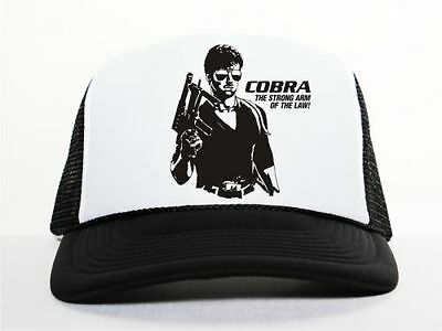 fe427884f4f M140 Sylvester Stallone City Cobra Trucker Mesh Cap schwarz