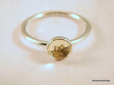 Citrine November Birthstone Ring - AUTHENTIC PANDORA RING  NOVEMBER DROPLET CITRINE  BIRTHSTONE 191012CI