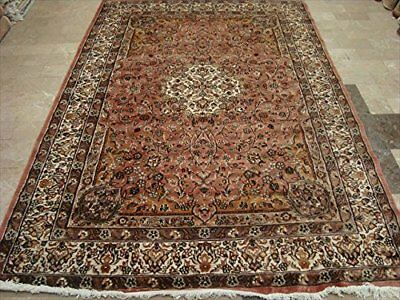 New Ivory Touch Hand Knotted Rectangle Area Rug Wool Silk Carpet (9 x 6)'