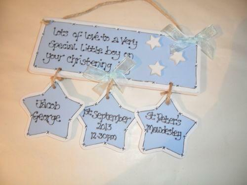 Handmade christening gifts ebay - Gifts for baby christening ideas ...