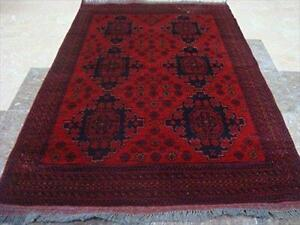 Exclusive Afghan Khal Muhamadi Fine Rectangle Area Rug Hand Knotted Wool Carpet (4.10 x 3.4)'