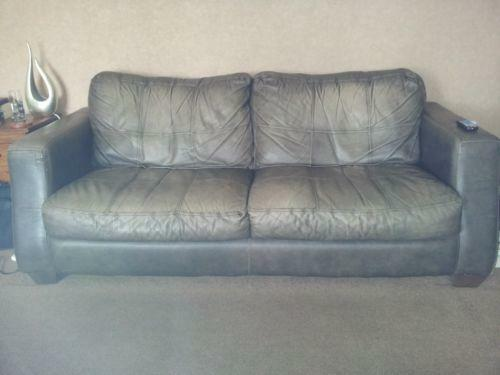 Distressed Leather Sofa Sofas Amp Suites Ebay