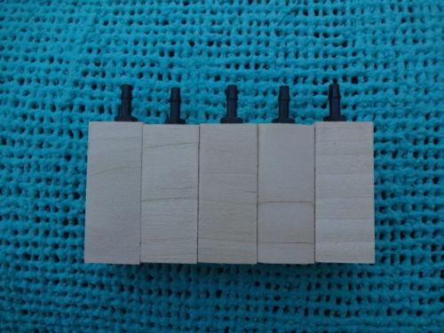"""Pack of 5 Wooden air diffuser limewood air stone lime wood airstone """"2 x """"3/4"""