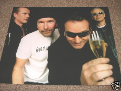 U2 Bono Edge Sexy Cool 8x10 Color Band Promo Photo #3