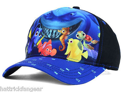 Disney Finding Nemo Movie Character Youth Baseball Style Cap Hat  Ages 3 - 7