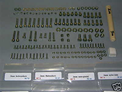 Team Associated RC10 WOLRDS CAR #6002 STAINLESS screw set w/100 deg 8-32 screws Team Associated Screws