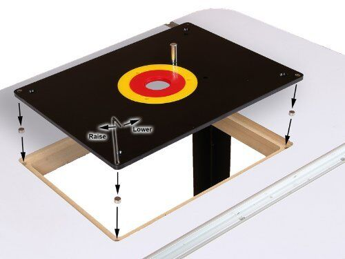 Router table insert plate w guide pin snap rings fits porter router table insert plate w guide pin snap rings fits porter cable bushings garden buy mall greentooth Images