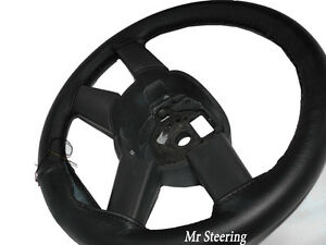 FITS-FORD-MONDEO-MK3-2000-2007-REAL-BLACK-ITALIAN-LEATHER-STEERING-WHEEL-COVER