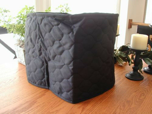 Black Appliance Cover 6 Qt. Crock Pot Round, Cotton Blend, Solid and no brand