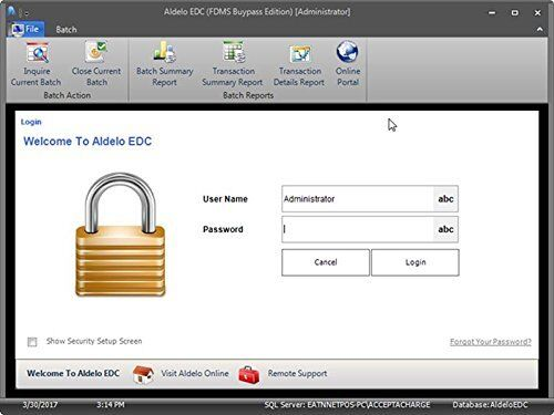 ALDELO 2018 EDC TSYS NO MONTHLY CHARGE
