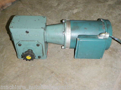 Reliance Electric 12 Hp Motor P56h5069h W Gear Reducer 4ac 40-1 Rh 1725 Rpm