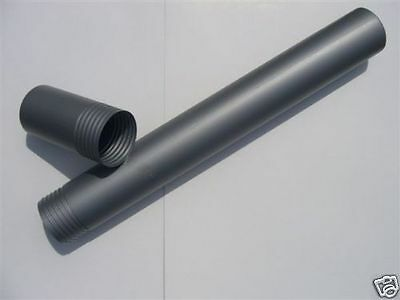 All plastic postal tube with screw cap in a grey satin finish 62 cm x 7cm