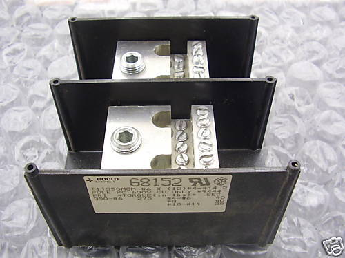 GOULD SHAWMUT 68152 TWO POLE POWER DISTRIBUTION BLOCK