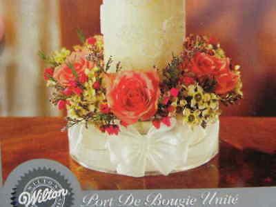 Wedding Formal Event WILTON Crystalique Unity Candle Fresh Flower HOLDER