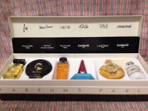 6 parfums of paris collection of minis (authentic)