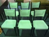 VINTAGE/ANTIQUE 1950s G-PLAN E GOMME DROP LEAF DINING TABLE & 6 CHAIRS ORIGINAL TO THE TABLE