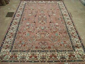Exclusive Medallion Floral Rectangle Area Rug Hand Knotted Wool Silk Carpet (9 x 6)'