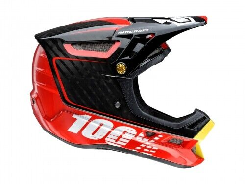 100% Aircraft Bi-Turbo Rot Helm Gr.XL 61-62 cm Bi-turbo Rot