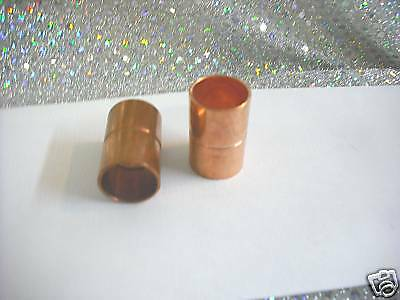 Copper Coupling With Stop Ring For 58 O.d. Tubing Set Of Two 2