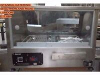 TAKEAWAY CHICKEN SHOP DISPLAY SINGLE DECK HOT CABINET DOUBLE TRAY WATER TRAY HOT CABINET FASTFOOD