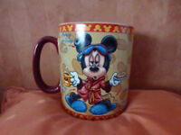 "Original Disney Micky Mouse MASSIVE 30oz Coffee Mug "" Mornings Aren't Pretty"" for sale"