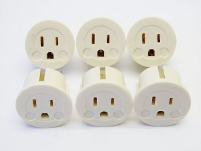 6 Pack International Power Adapter with USA-to-European Schuko Connection International Power Pack