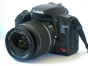 Canon Rebel XS camera with lens