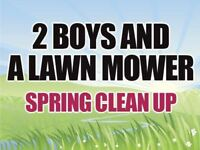 Contact Two Boys and a Lawn Mower's Services for Spring Clean Up