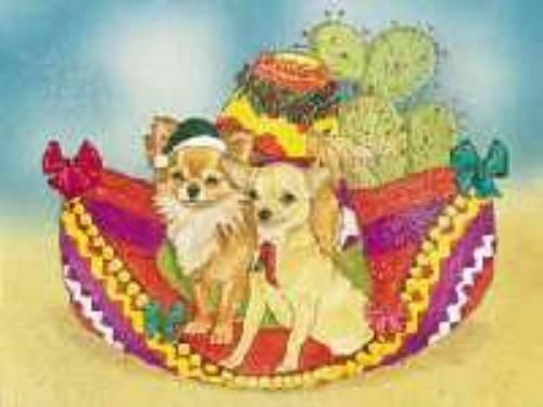 Ten Cards Pack CHIHUAHUAS Dog Breed Christmas Cards USA made