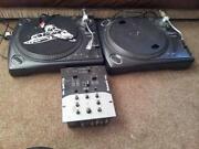 DJ Decks and Mixer
