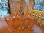 Pink Depression Glass, Footed Tumbler