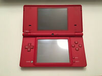 NEW RED NINTENDO DSi & 13 GAMES.NEVER USED.HAS TO GO TODAY.NO TIMEWASTERS