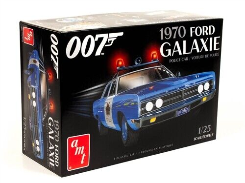 Amt 1172 1970 Ford Galaxie Police Car (James Bond) plastic model kit 1/25