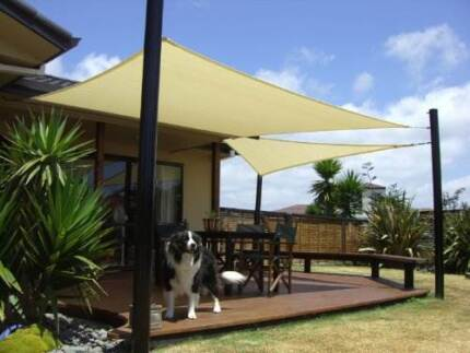 Fabric Garden Shade with 3 metal pole North Strathfield Canada Bay Area Preview