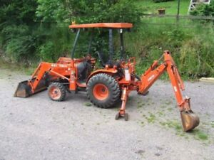Looking to rent a Kubota with backhoe and bucket