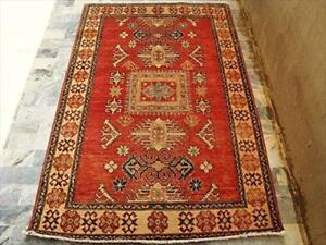 Kazak Caucasion Exclusive Designed Vege Dyed Rectangle Area Rug Hand Knotted Carpet (6 x 4)'